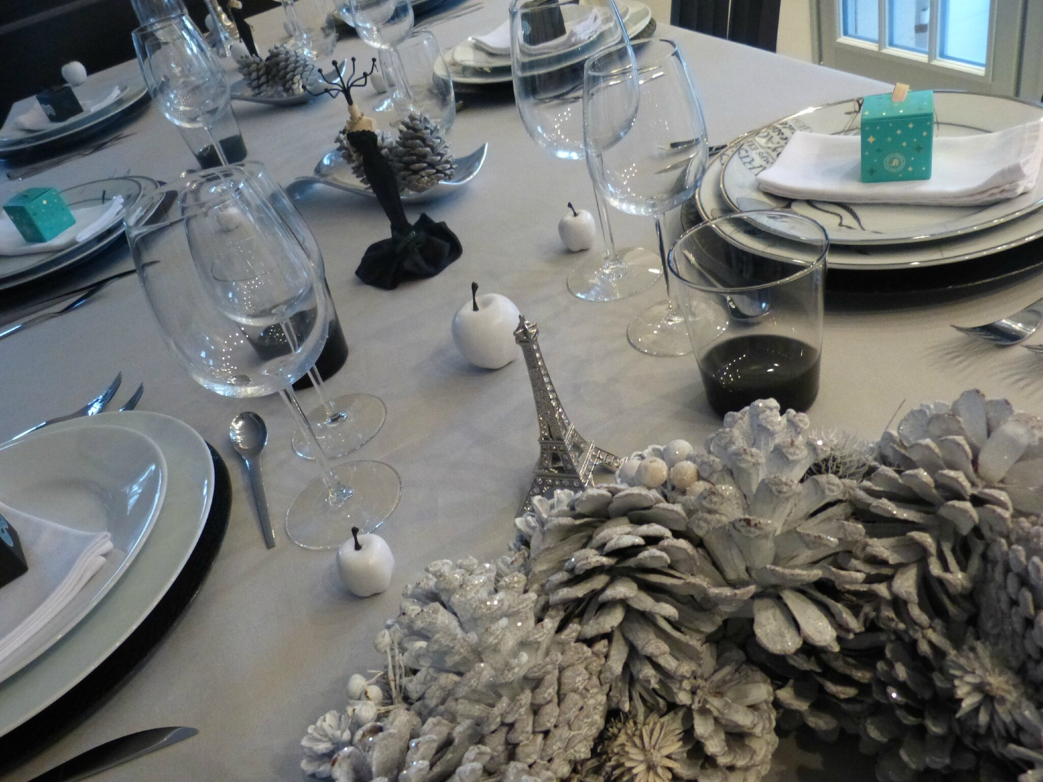 Table r veillon st sylvestre 2014 sous le ciel de - Table reveillon saint sylvestre ...