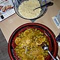 Tajine de poulet aux olives et citron