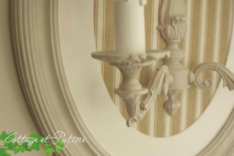 Cottage et Patine création luminaire personnalisée ref noeud_toilematelas zoom 3