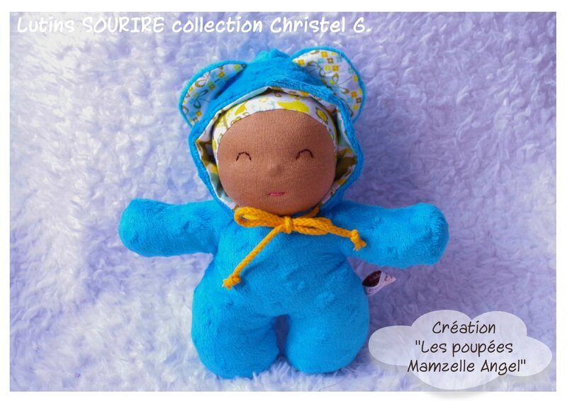 Lutin sourire Christel Turquoise Café