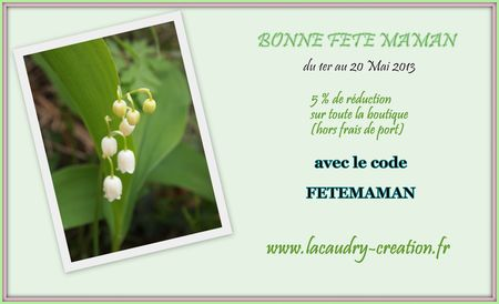 promo fete maman lacaudry creation