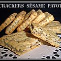 Crackers ssame pavot...