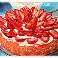 Tarte moelleuse aux fraises