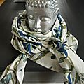 Foulard écharpe cheche - le carré fait son retour en force et accessoirise toutes nos tenues