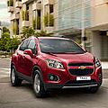 Le Chevrolet Trax 2013 qui sera dvoil au salon de l'auto de Paris 2012 (CPA)