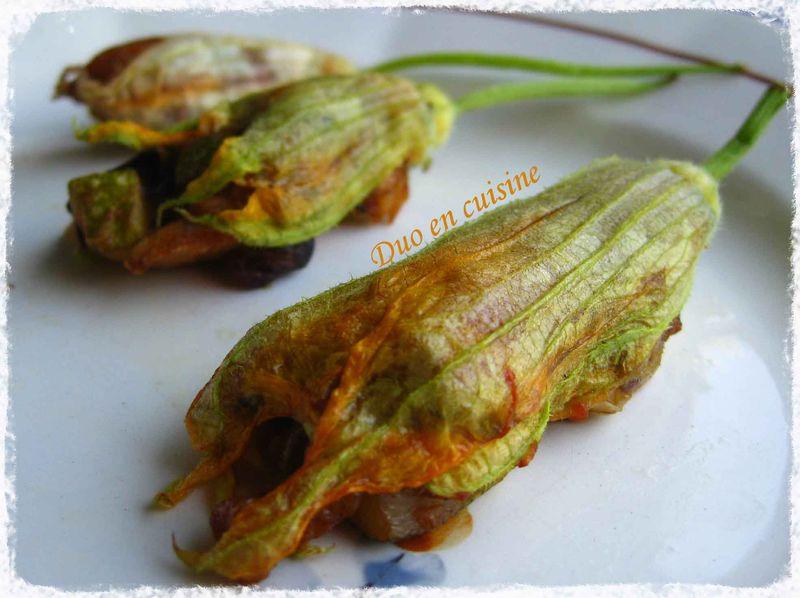 Fleurs de courgettes farcies aux l gumes d 39 t duo en cuisine - Fleurs de courgettes au four ...