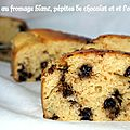 Cake au fromage blanc , ppites de chocolat et  l'orange