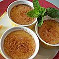 Creme brûlée au lait de coco et gingembre confit