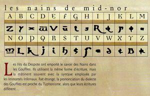 Ecriture Nain de Mid Nor