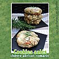 Cookies sals chvre abricots secs & romarin