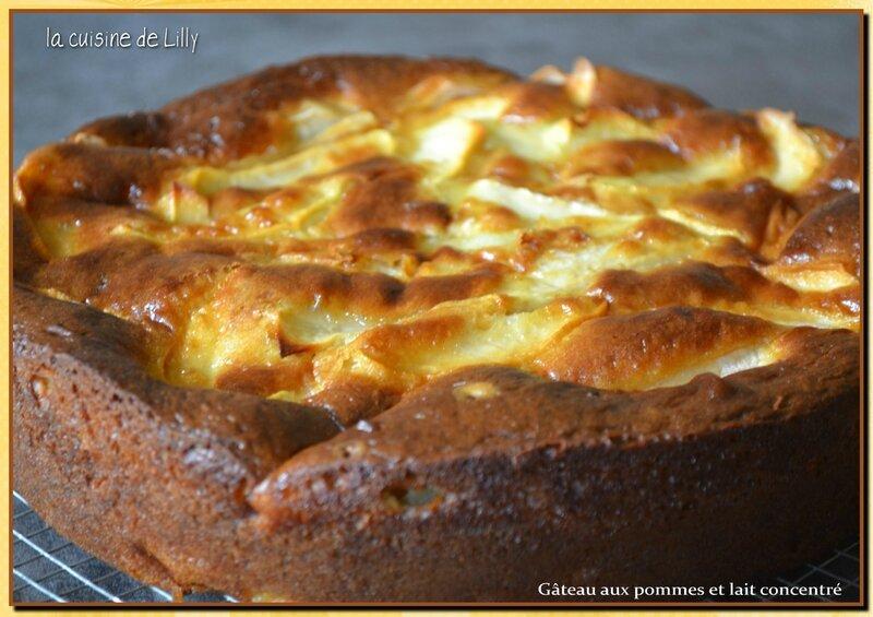 gâteau aux pommes et lait concentré