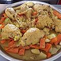 Tajine de pilons de poulet aux légumes au thermomix