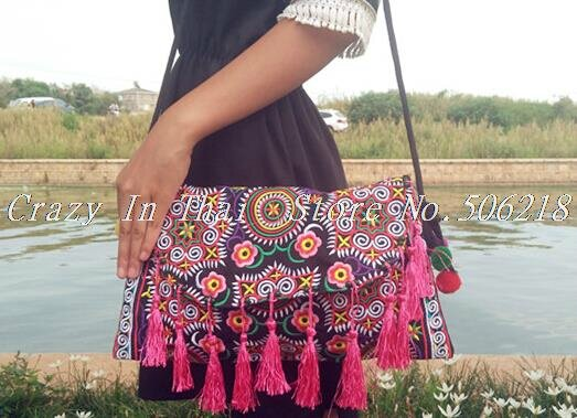 Thai-Handmade-Embroidery-Bag-Double-Side-Embroidered-Shoulder-Messenger-Bags-Ethnic-Vintage-Small-Clutch-Cover-Tassel