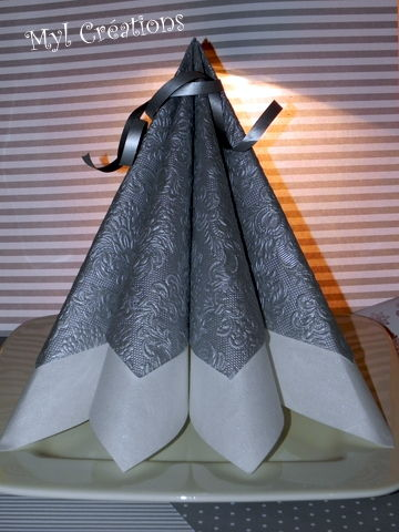Pliage de serviettes mimi creations - Pliage serviette pour noel facile ...