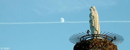Rocher de la Vierge de Biarritz, la statue de la Vierge