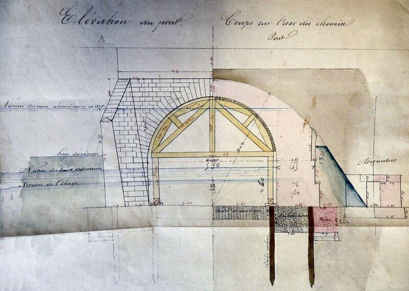 Ch26 - Plan de 1875 du nouveau pont du Loch
