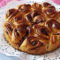 La brioche bouclette de paprika avec du nutella :)