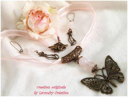 rose chat et papillon parure défi alm aout 2013