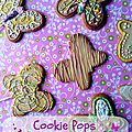 Cookie pops papillon