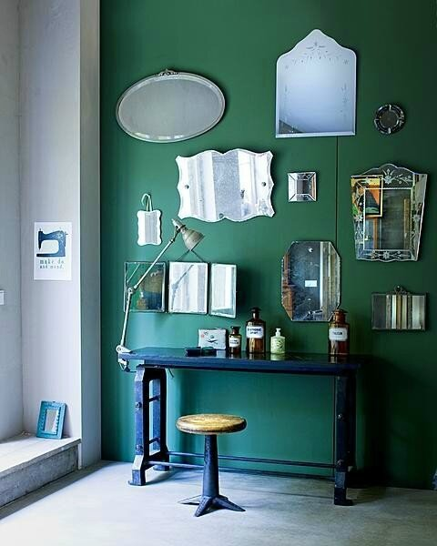 vtwonen-magazine-mirors-green-walls