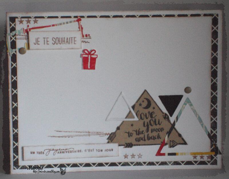 carte anniversaire fevrier triangle