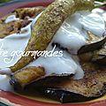 Aubergines grillées au yaourt