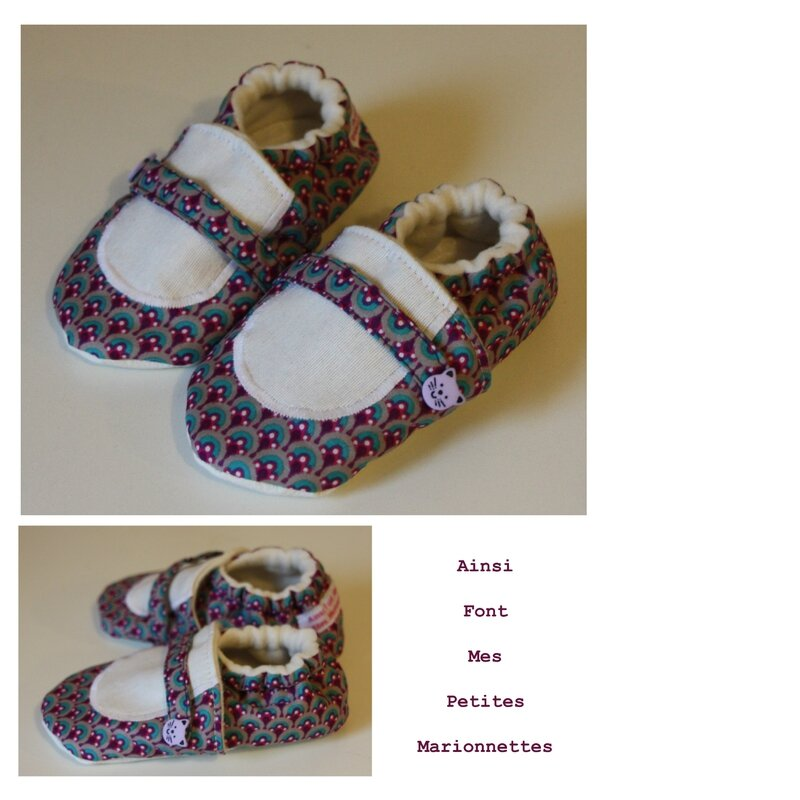 chaussons ballerine violette