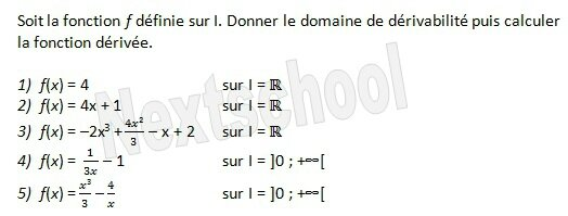 1ere derivation fonctions derivées 3 1