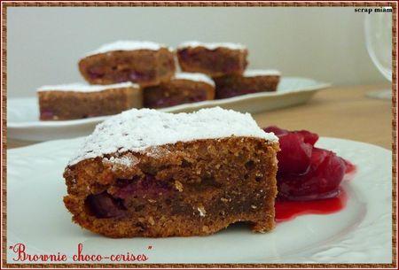 brownie choco cerises 1