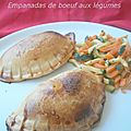 Emapanadas de boeuf aux lgumes