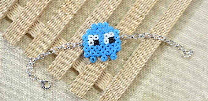Easy Perler Beads Idea -How to Make a Cute Cartoon Perler Bead Chain Bracelet (2)