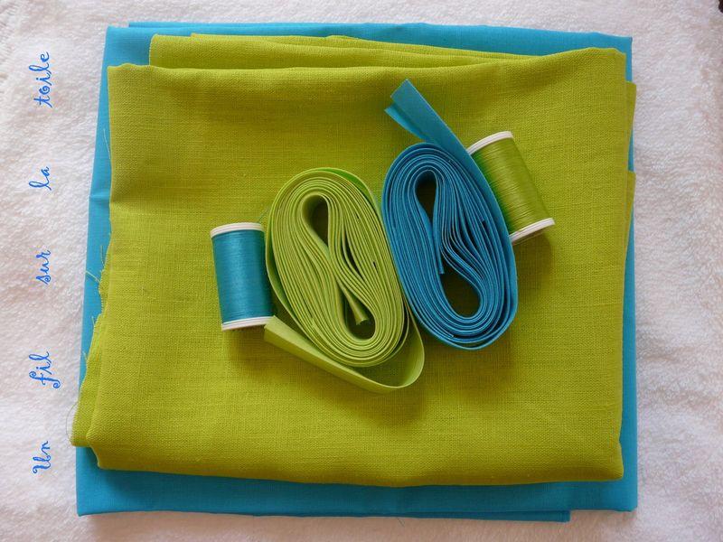 free lin vert anis le quartier des tissus et coton bleu turquoise la victoire tissu ponge blanc. Black Bedroom Furniture Sets. Home Design Ideas
