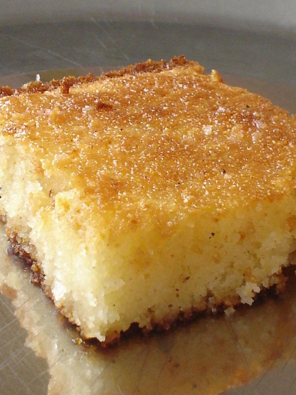 Basboussa vanillee au yaourt egypte blog coconut for Amour de cuisine basboussa