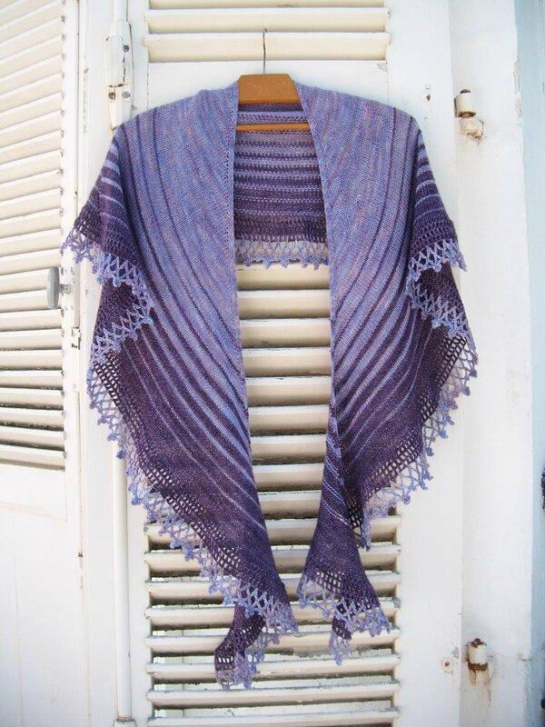 châle violet 093