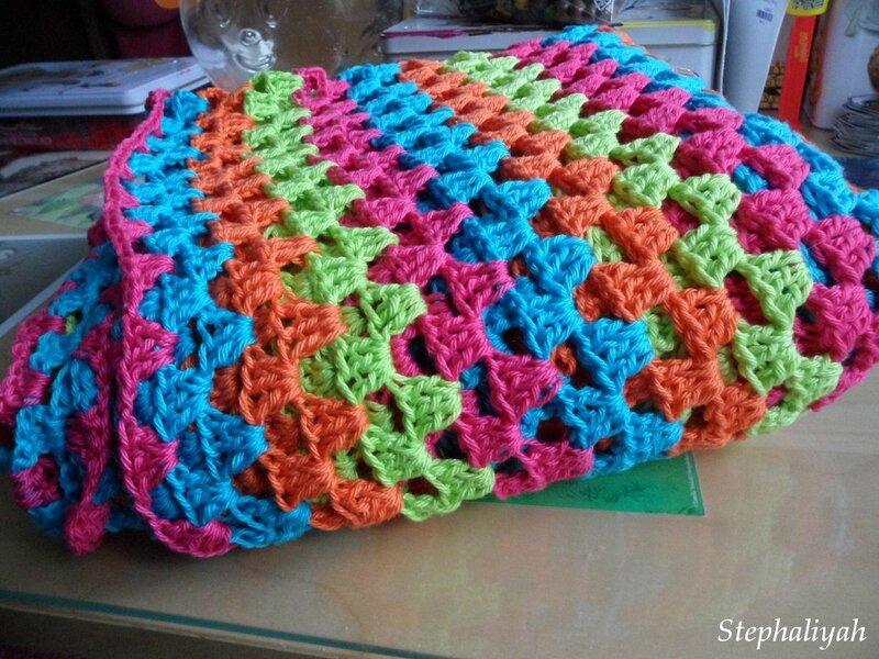 Plaid crochet - 21 décembre 2016