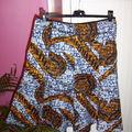 Jupe à godets en ....tissu africain