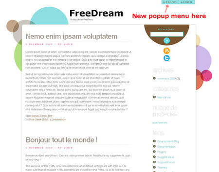 HTML5 Wordpress theme FreeDream