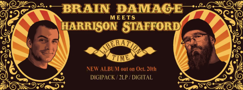 Brain Damage meets Harrison Stafford album CD Liberation Time octobre 2017