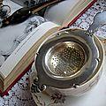 Passoire à thé en métal argenté