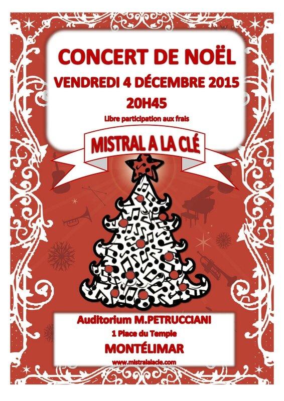 CONCERT MISTRAL A LA CLE NOEL 2015