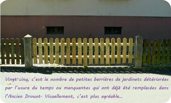 Quartier Drouot - Remplacement petites barrières jardinets
