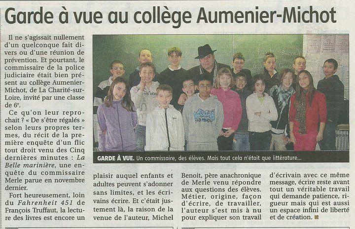 La Charité sur Loire classe de 6ème