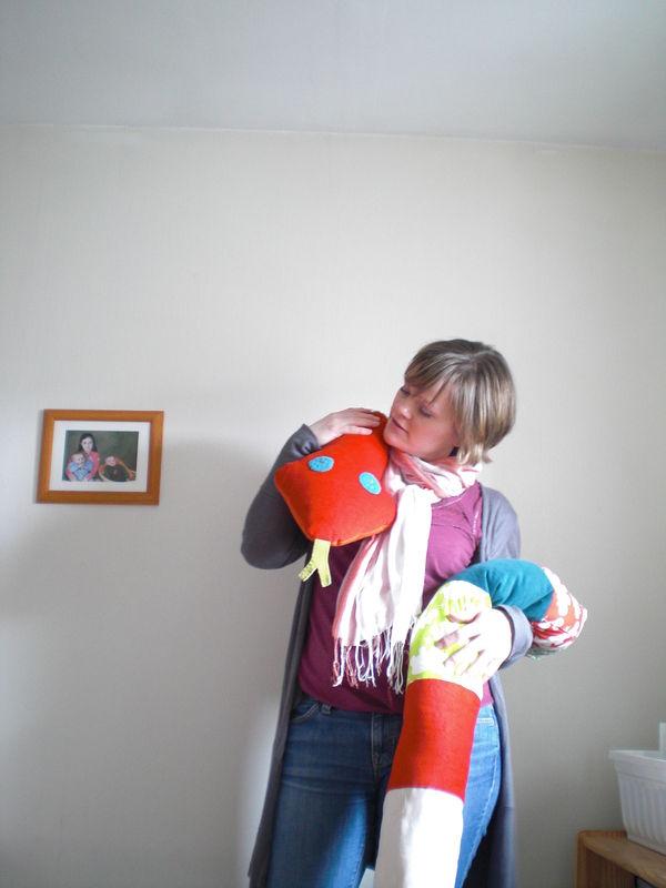 Serpent d'avril, doudou géant d'anniversaire - Mars 2011