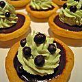 Tartelettes chocolat noir/crème pistache