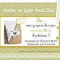 Atelier mini album en ligne-invitée créative 4enscrap