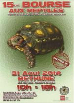 Affiche bourse reptiles Béthune