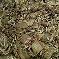 Chou chinois, riz basmati et viande hachée au soja