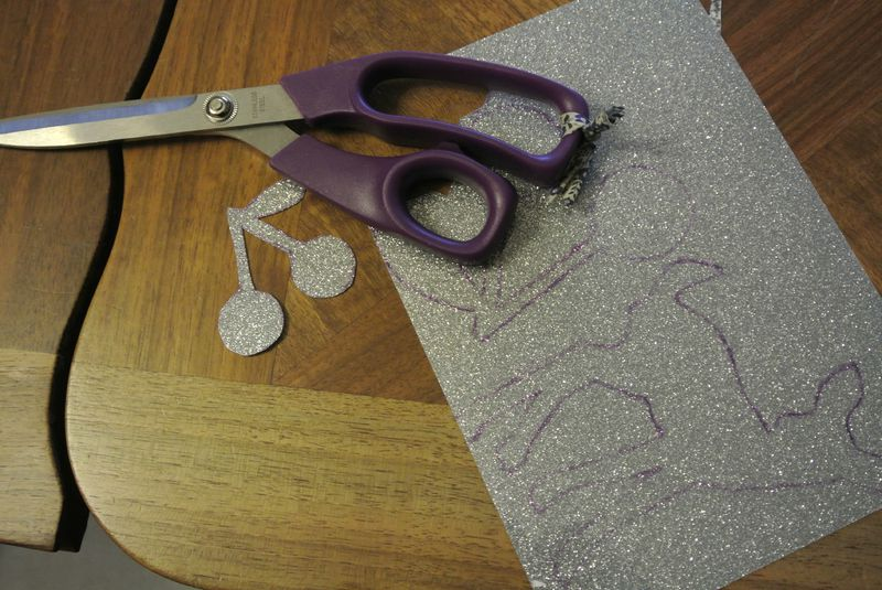 halloween, transferts paillettes, broches, snood 010