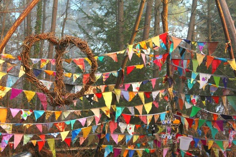 coeur de liane sur fanions yurtao