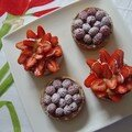 tartelettes framboise/pistache - fraises/passion